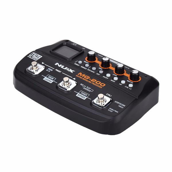 Processore per chitarra a pedale multieffetto NUX MG-200 55 Modelli 70 secondi per registratore di chitarra a crimpare per chitarra Looper