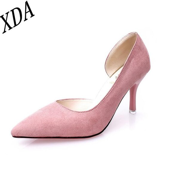 Dress Shoes Xda Han Edition Women Pumps Fashion High Heels Black Pink Green Silver Women Bridal Wedding Ladies W42