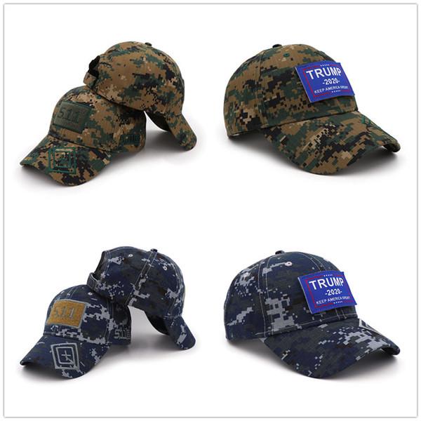 5.11 Donald Trump 2020 MAGA Hat Digital Camo Keep America Great KAG Strapback Hats Baseball Cap Tactical Snapback Sports Outdoor Caps A42604