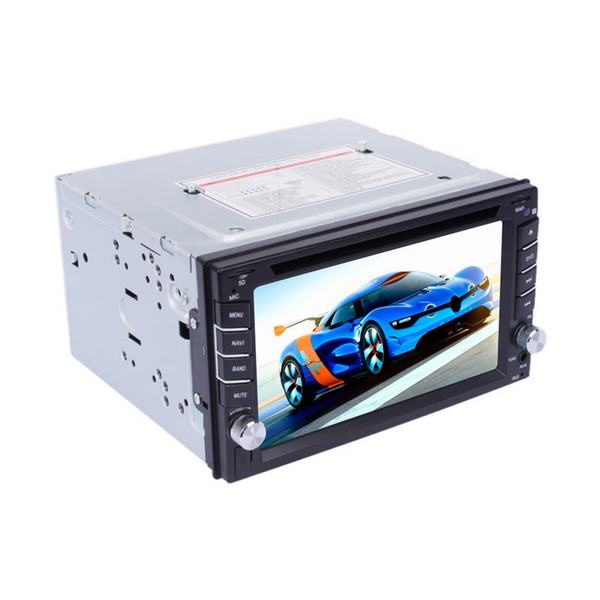 6.2 pollici navigatore GPS touch screen auto 2 DIN Chiamate BT Music DVD Player FM RDS Radio CD Disc Player retrovisione ingresso AUX