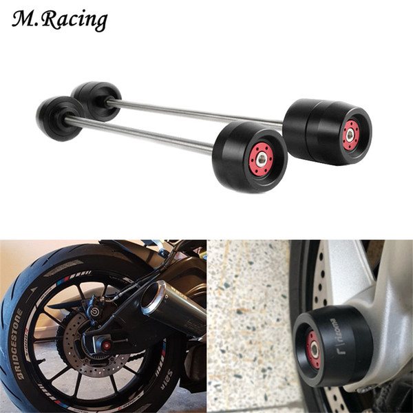 Motorcycle Front & Rear Wheel Fork Axle Sliders Cap Crash Protectors For 696 795 821