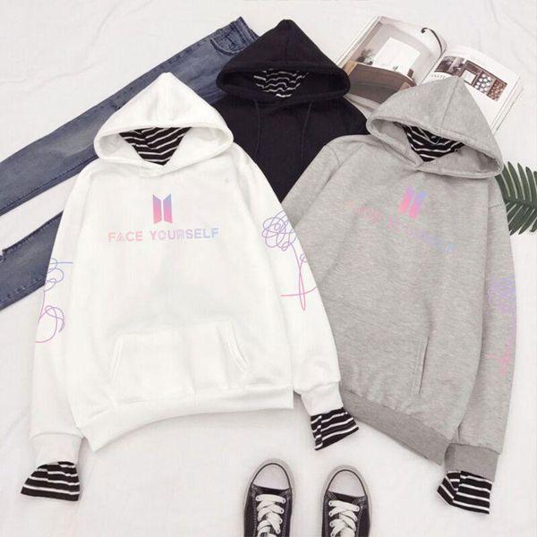 BTS Love Yourself Album Hoodies Women kpop Bangtan Boys Oversized Hoodies and Sweatshirts Korean Style Casual Pullovers A5610