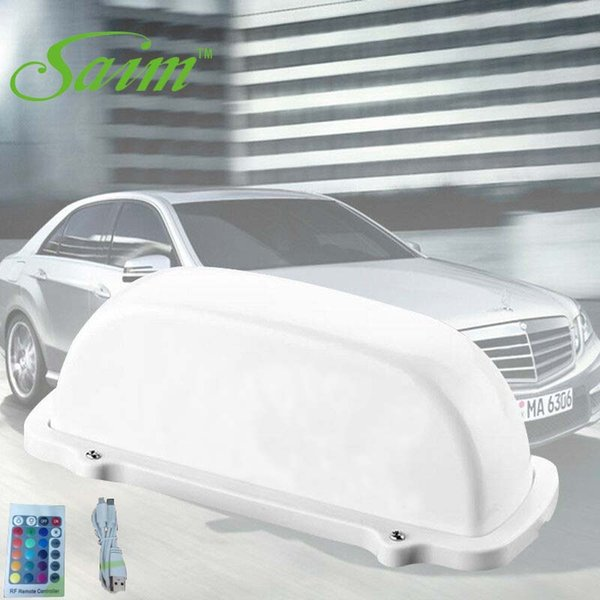 2019 Fahrerhaus-Zeichen-Auto-Spitzenlicht-Fernsteuerungsbatterie-Fahrer 7 Farbänderung (Wir sandten mit Aufklebern aus, der Aufkleber kann abgerissen werden)