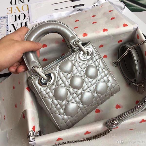 Mode Liebe herz Welle Muster Satchel Designer Umhängetasche Kette Handtasche Luxus Crossbody Geldbörse Dame Tote taschen (17 * 15 * 7)