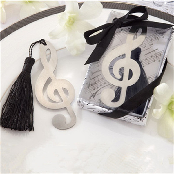 Music Note Alloy Bookmark Novelty Ducument Book Marker Label Stationery Exquisite Gift Book mark
