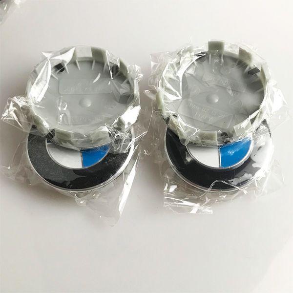 4pcs 68mm white blue 10 pin Car Wheel Center Hub caps Rim Caps Covers Logo Emblem Badge for BMW 1 3 5 7 X3 X5 M3 M5 36136783536