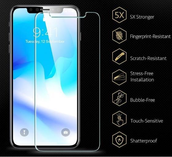 MEJOR protector de pantalla de vidrio templado para iPhone X 8 para iPhone7 Plus Pixel 3 XL Film 0.33mm 2.5D 9H Paquete de papel