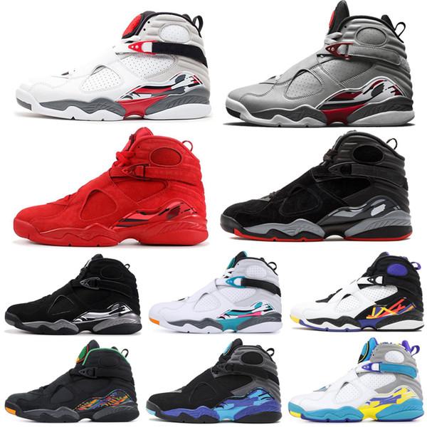 NUEVO 2019 Zapatillas de baloncesto para hombre 8s Valentines Day Aqua Countdown Pack 8 Zapatillas de deporte retro para hombre Zapatillas de deporte frescas de diseñador Tamaño 7-13
