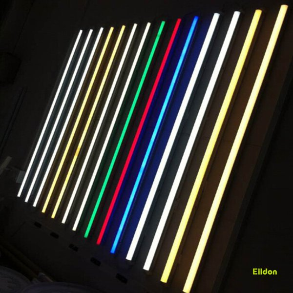 LED T5 Tubes couleur lumières Integrasted 4ft 5ft 24W AC85-265V PF0.95 2835SMD Rouge Vert Bleu Jaune Ampoules direct de Shenzhen en Chine Facotry