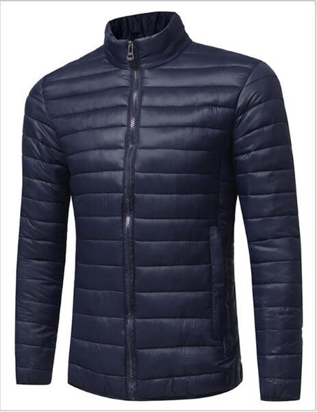 Addensare caldo inverno anatra piumino per uomo collo di pelliccia Parka stare colletto cappotto uomo più dimensioni soprabito stile occidentale S-3XL J1811162