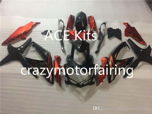 3 regalos Nuevo Carenado para SUZUKI K8 GSX R600 08 09 10 R750 GSXR750 GSXR600 GSXR 600 750 2008 2009 2010 Kits de carenados Cool Orange negro
