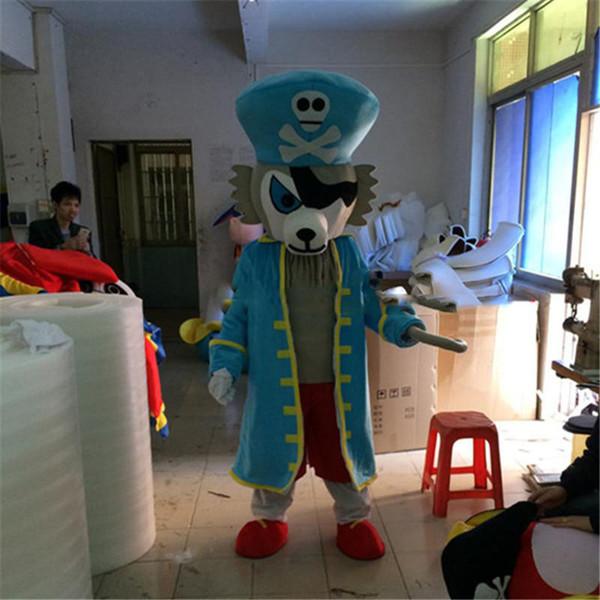 Волк пиратский капитан мультфильм куклы костюмы талисмана реквизит костюмы бесплатная доставка