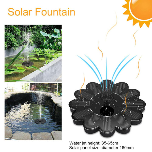 Solar-Powered Water Pump7V Rockery Fountain Garden Solar Pumps DC Brushless Motor solar Panel Pumps Kit for Fountain