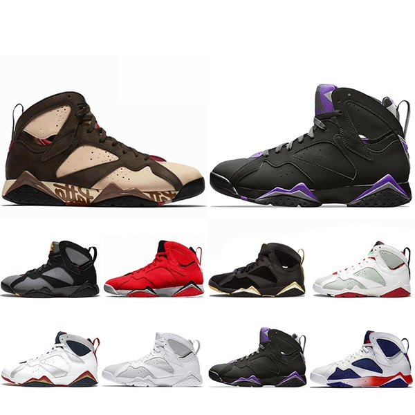 Top Fashion Jumpman Reflective Bugs Bunny Patta X 7 Basketball Shoes Ray Allen Olympic 7s History of Flight Hare mens Raptor sports Sneakers