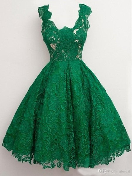 Emerald Green Prom Dresses Long vestidos curto de festa Ball Gown Cheap Lace Sleeveless Low Back Evening Homecoming Dres Party Gown