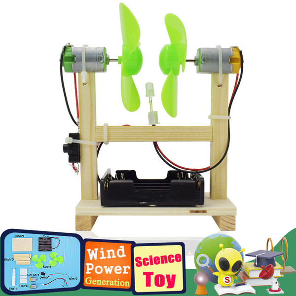 top popular Wind Power Generation Model Kit Science Experiment Toys for Kids Exploring Physics Educational Handmade Assembling Toys Gifts 2021