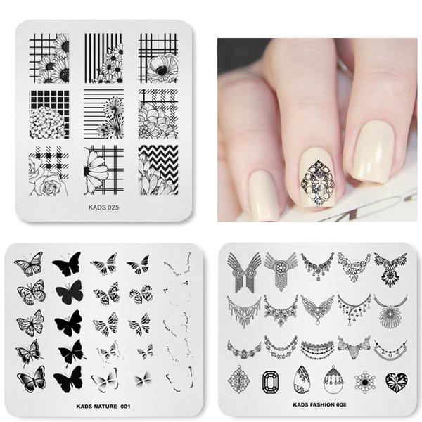 Hot Fashion 21 Designs Optional Nail Art Stamping Plates Beauty Flower Nail Patterns Polish Printing Plate Stencils for Nails