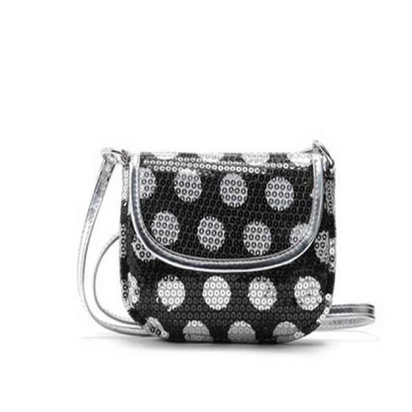 Cheap Fashion Fashion Women Handbag Cute mini circle silver sequins flip Shoulder Satchel Ladies Cross Body Messenger Bag Bolsos Mujer