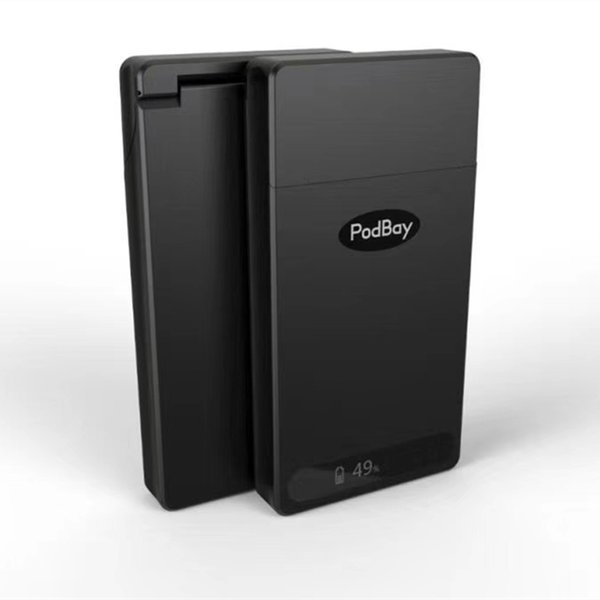 Podbay Portable LCD Charger Power Bank Juu Charging Battery Case 1500mAh Battery Box For Juu And Pod