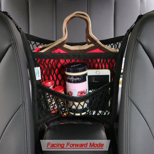 Backseat Pockets for Kids Toys Net Organizers Behind Console Black 1 Pack and Pet Barrier from Back Mesh Car Organizer with Pocket for Between Seats Storage: Cargo Nets for Cars Front Seat