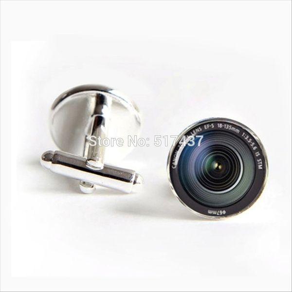 J-269 2017 wholesale DSLR Lenses Cufflinks Camera Lens Cuff link Cufflinks For Mens brand Cuff Button D19011004