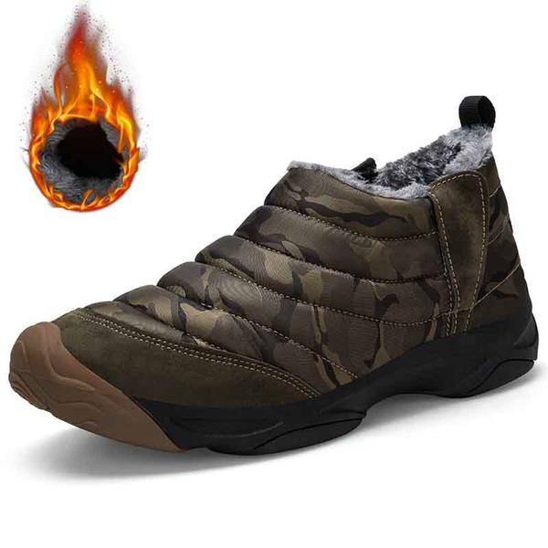 Neue Art und Weise Mann-Winter-Schuhe High Top Schneestiefel Plüsch Inside Bottom Warmhalten Wasserdichte Stiefel Unisex Stiefelette Big Size