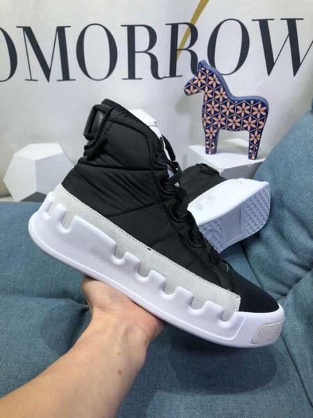 2019 novo vermelho, homens brancos e negros altos-top sapatos casuais couro à prova d'água marca designer de moda Y3 sapatos casuais botas C14