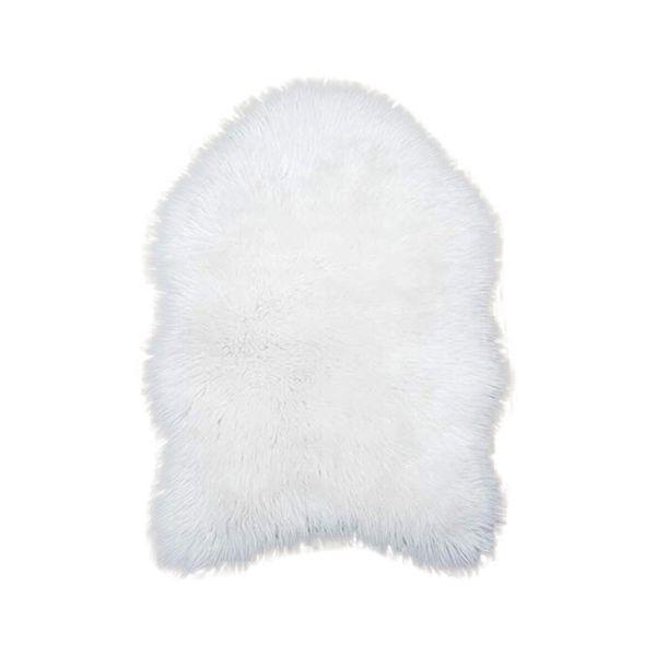Tappeto in ecopelliccia bianco Tappeto in pelle di pecora Mat Tappeto Pad antiscivolo Sedia copridivano per camera da letto Home Decor Faux Fur #XTN