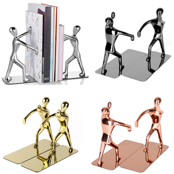 best selling 1 Pair Heavy Duty Zinc Alloy Man Decorative Bookends, Nonskid Metal Book Ends for Shelves, Book Support, Book Stopper for Books, Magazines