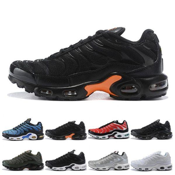 Tn Plus Hommes Femmes Chaussures De Course Run Sneakers Greedy Oreo Triple Noir Blanc Argent Bullet Hommes Entraîneur Athlétique Sport Taille 40-45 Vente En Ligne