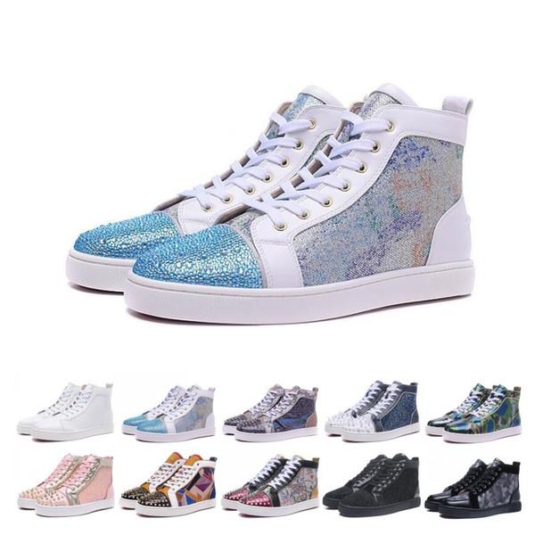Erkek Kadın Parti Sevenler Gerçek Deri Sneakers Sonbahar Kış Casual için Yenilikler Tasarımcı Çivili Dikenler Flats ayakkabı