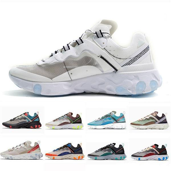 best selling 2019 React 87 Instant Men Outdoor Shoes Women Knitting Lightweight Breathable Fashion Run Jogging Shoes trainers sports designer sneakers