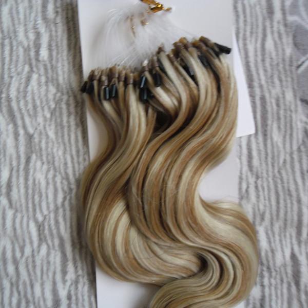 Estensioni dei capelli di Remy umani Micro Loop 18-24inch 100g estensioni dei capelli dell'anello del ciclo micro capelli brasiliani vergini brasiliani non trasformati