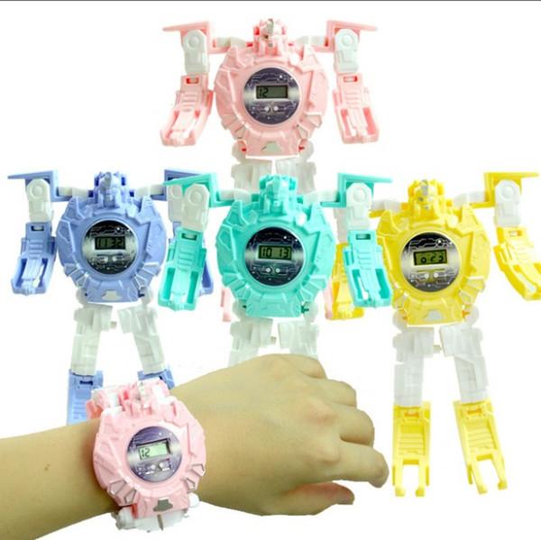 Fashion transformers robot kids watch children cartoon cute sport digital watches wholesale boys girls birthday gift wrist watches