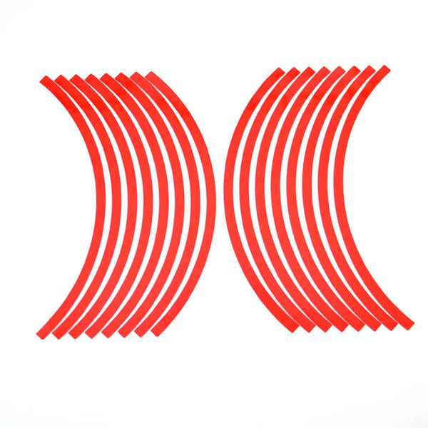 16 Strips 12 Inch 6 color Motorcycle Reflective Wheel Sticker for Car Rim Stripe Wheel Decal Tape Car Styling