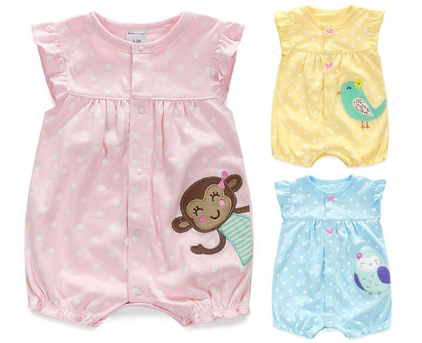 Rompers Summer Girls Clothing Cartoon Newborn Roupas Bebe Short Sleeve Baby Girl Clothes Infant Jumpsuits Q190518