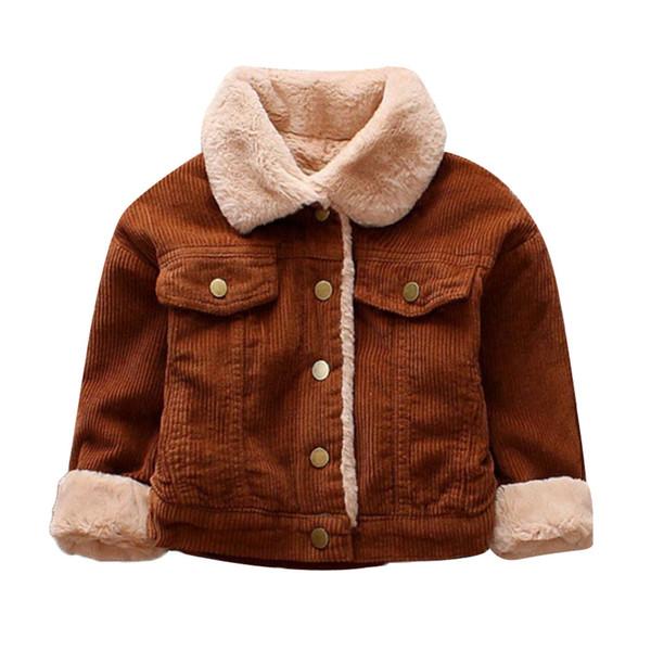 Çocuklar Bebek Kız Erkek Kış Katı Coat Cloak Ceket Kalın Sıcak Giyim Sonbahar Kazanan Giysileri