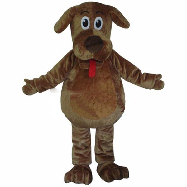 Costume della mascotte del fumetto di alta qualità agita i costumi della mascotte del cane i costumi lanuginosi della mascotte di Wags della pelliccia