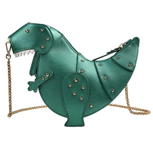 Brands Dinosaur Rivet Chains Crossbody Bags for Women Bags Purse PU Leather Shoulder Messenger Ladies Girls Handbags Women