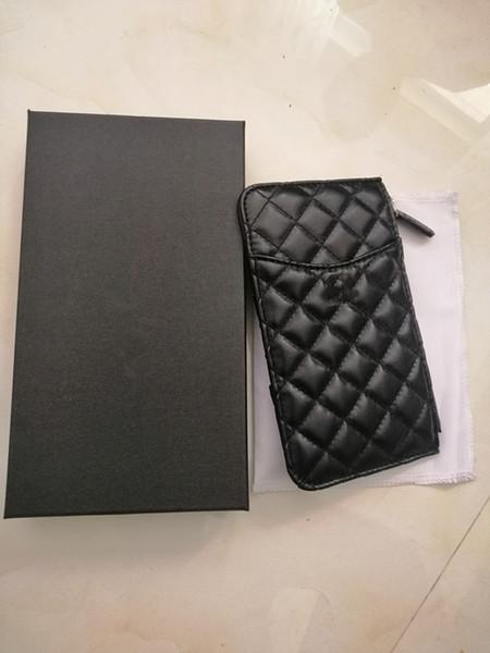 2019 Haute Qualité Marque Pochette matelassée Lady Womens en cuir Sacs Carte paquet + sac de téléphone portable + porte-monnaie Portefeuille de mode pour femme
