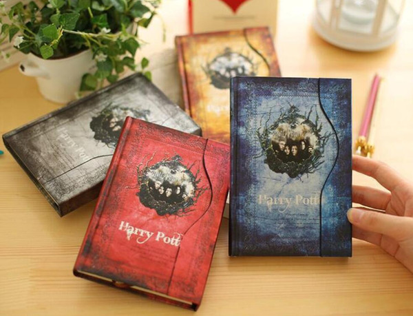 Vintage Harry Potter notepads Retro paper Magic Diary Book Notepad Magnet Notebook office school supplier student paper notebooks free ship