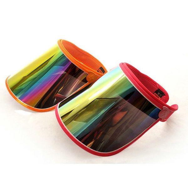 Hot new Cap Wholesale Visors For Car Anti UV Light Cap PC Sun Hat Colorful Board To Ride Sun Visors WCW483