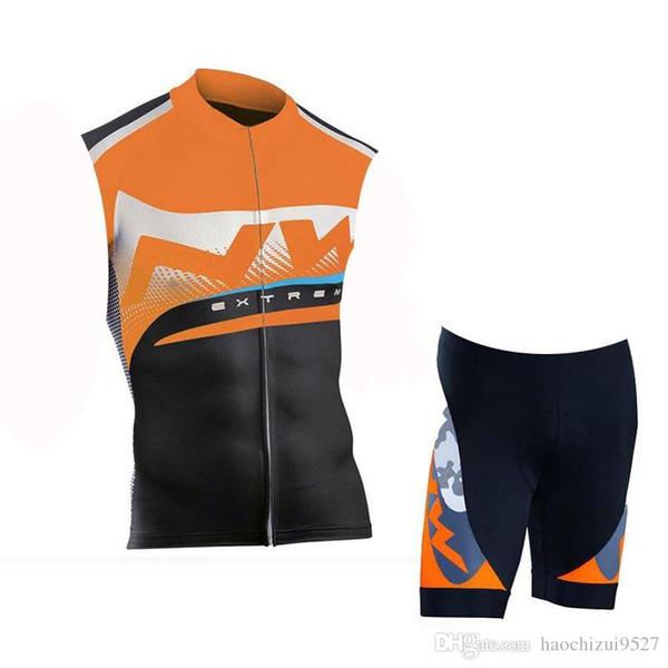 NW 2019 Mountain Cycling Abbigliamento Uomo Pro Team Cycling Jersey Set Ropa Ciclismo Tuta da bici senza maniche Abbigliamento da corsa