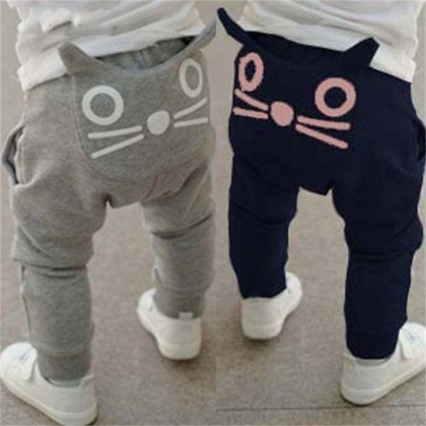 İlkbahar ve sonbahar çocuk giyim erkek kız harem pantolon pamuk baykuş pantolon bebek moda