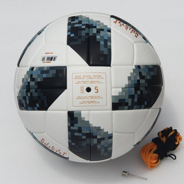 2018 World Cup Soccer Ball Russian Match ball PU high quality seamless paste skin football ball Size 5