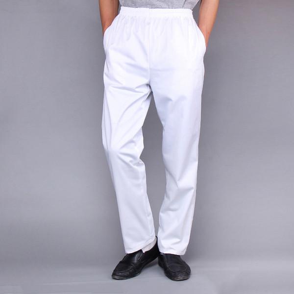 Yüksek Kaliteli Şef Pantolon Erkek Fasion Şef Tulum Elastik Takım Elbise Pantolon Mutfak Pişirme Kahve Dükkanı