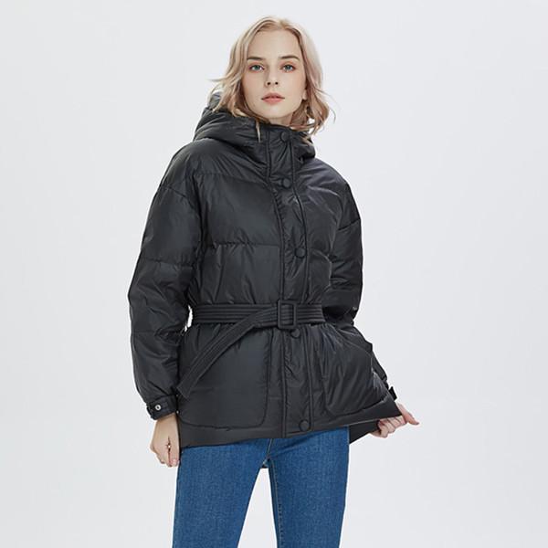 Winter Coat Women 2019 Hooded Women Winter Jacket Short White Duck Down Jacket Womens Coat Female Loose Down Parka Outwear