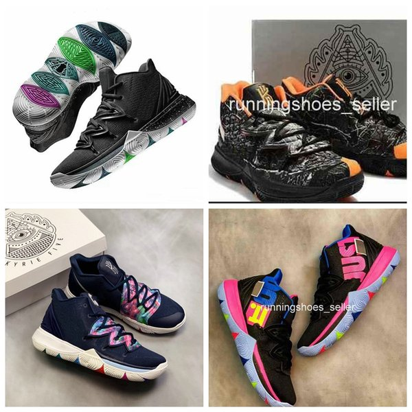 Scarpe Walking 2019 New Nike Kyrie 5 Black Magic Travis Taco Bennett Mens Scarpe Da Basket Irving 5s 3M Athletic Sport Chaussures Zapatillas Sneakers