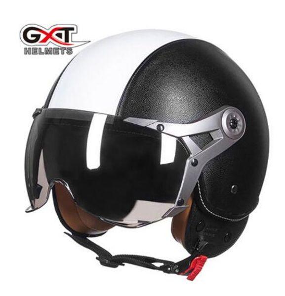 GXT motorcycle helmet half covered type electric half helmet he him; male and female air force