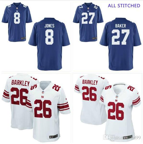 Mens 97 Dexter Lawrence Jersey Deandre Baker #8 Daniel Jones Vapor Untouchable Draft White Royal cheap american football jerseys College